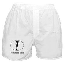 Runner Silhouette Oval (Custom) Boxer Shorts