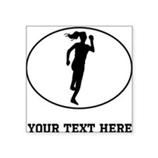 Runner Silhouette Oval (Custom) Sticker