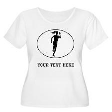 Runner Silhouette Oval (Custom) Plus Size T-Shirt