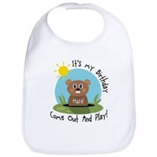 Hazel birthday (groundhog) Bib
