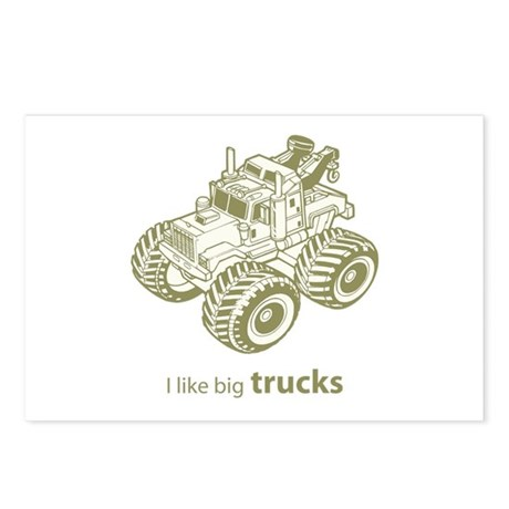 I like big trucks Postcards (Package of 8)