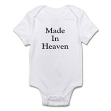 Made in Heaven black Infant Bodysuit