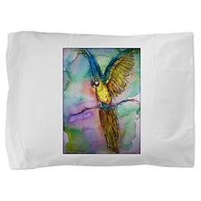 Blue/gold Macaw, parrot art! Pillow Sham