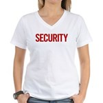 Security (red) Women's V-Neck T-Shirt
