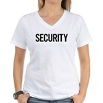 Security (black) Women's V-Neck T-Shirt