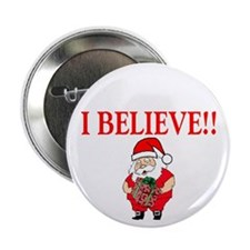 "Santa - I Believe 2.25"" Button (100 pack)"