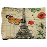 Butterfly eiffel tower Pillow Sham