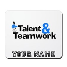 Baseball Talent And Teamwork (Custom) Mousepad