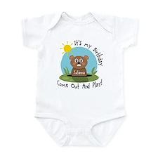 Julianna birthday (groundhog) Infant Bodysuit