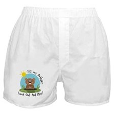 Joy birthday (groundhog) Boxer Shorts