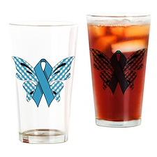 NEON BLUE RIBBON Drinking Glass