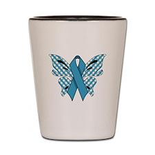 NEON BLUE RIBBON Shot Glass