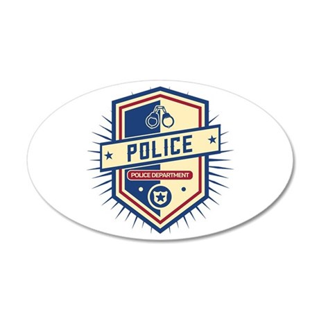 Police Department Crest 20x12 Oval Wall Decal