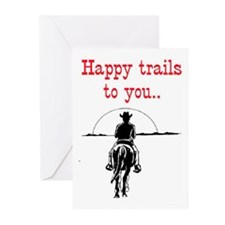 HAPPY TRAILS Greeting Cards (Pk of 20)