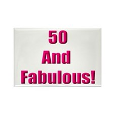 50 and Fabulous Rectangle Magnet (10 pack)