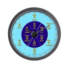 """Old Hours of Japan"" Wall Clock (with English)"