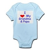 I love my grandma & Papa Infant Bodysuit