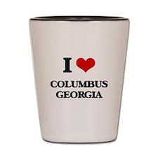 I love Columbus Georgia Shot Glass