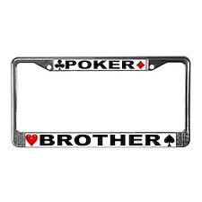 Poker Brother License Plate Frame