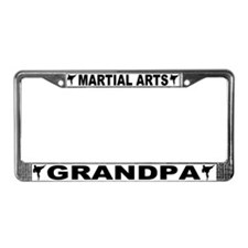 Martial Arts Grandpa License Plate Frame