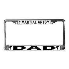 Martial Arts Dad License Plate Frame