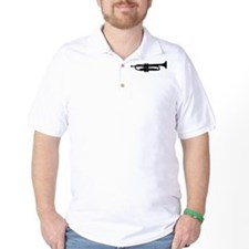 Trumpet Silhouette Golf Shirt