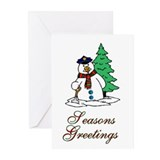 Police Officer Snowman Greeting Cards (Pk of 20)
