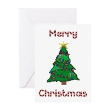 Merry Christmas Police Tree Greeting Card