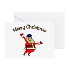 Police Officer Santa Greeting Card