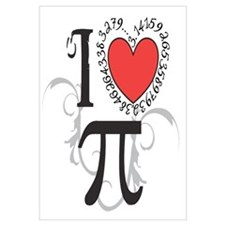 I Heart Pi Wall Art