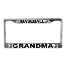 Baseball Grandma Chrome License Plate Frame