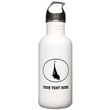 Sail Boat Silhouette Oval (Custom) Water Bottle