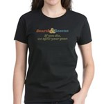 If You Die We Split Your Gear Women's Dark T-Shirt
