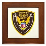 County Sheriff's Dept. Framed Tile