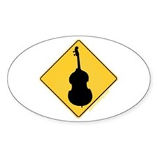 Crossing Zone Bass Oval Decal
