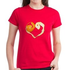 Orange peel heart Tee