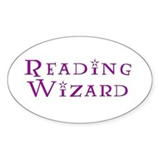 Reading Wizard Oval Stickers