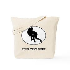 Rugby Tackle Oval (Custom) Tote Bag