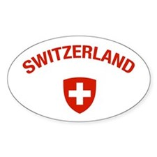 Switzerland Oval Decal