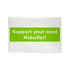 Support Local Midwife Rectangle Magnet (100 pack)
