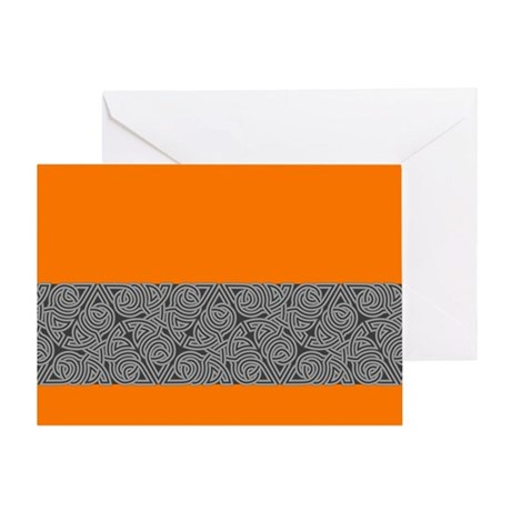 Charcoal Triangle Knot Greeting Card