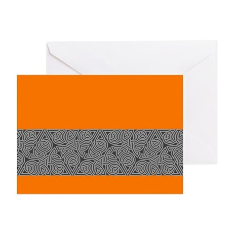 Charcoal Triangle Knot Greeting Cards (Pk of 20)