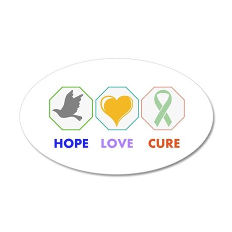 Hope Love Cure Wall Decal
