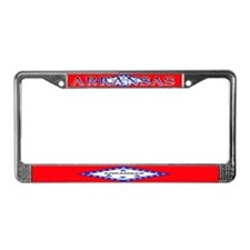 Arkansas State Flag License Plate Frame
