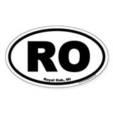 Royal Oak, Michigan RO Oval Decal