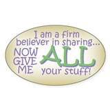 Sharing 2 Oval Decal
