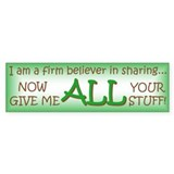 Sharing Bumper Bumper Sticker