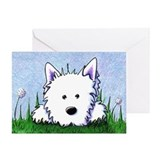 Springtime Westie Greeting Card