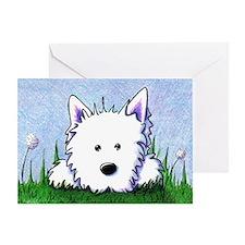 Springtime Westie Greeting Card