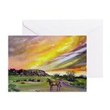 Sunset On The Prairie Greeting Cards (Pk of 20)